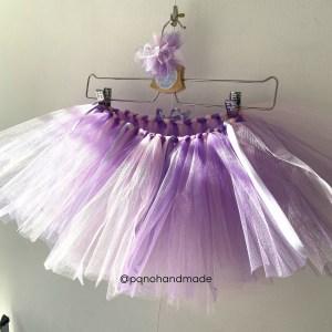 falda tul rosa lila