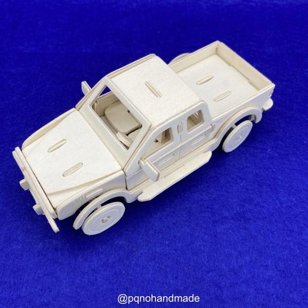 Coche furgoneta pickup para montar 3D y pintar arriba manualidades