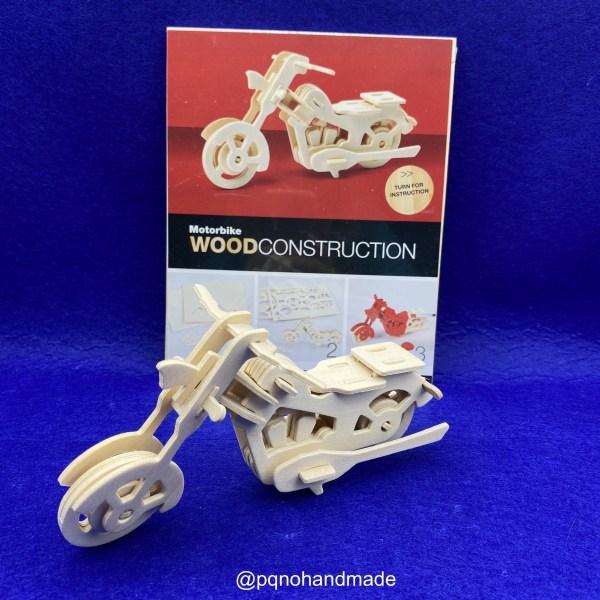 Motocicleta para montar 3D y pintar pack manualidades
