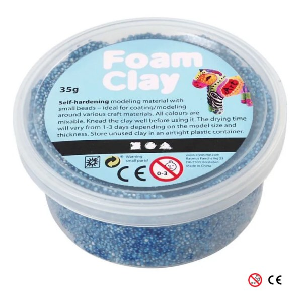 Plastilina Foam Clay azul oscuro para decorar manualidades