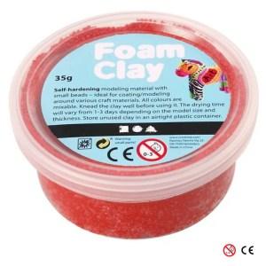 Plastilina Foam Clay rojo para decorar manualidades