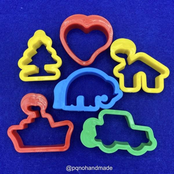 set 6 moldes plastilina para modelar y jugar manualidades