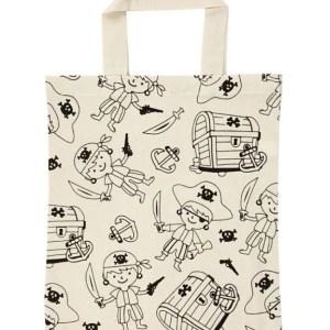 bolsa tote bag piratas cofre tesoro manualidades pintar tela
