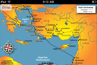 Manna Bible Maps, Full Screen Map