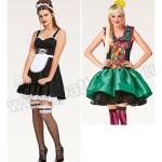 Выкройка Burda №2354 — Карнавальные костюмы: Горничная и Арлекин