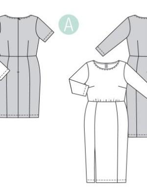 Выкройка Burda №6304 — Трикотажное платье с драпировкой