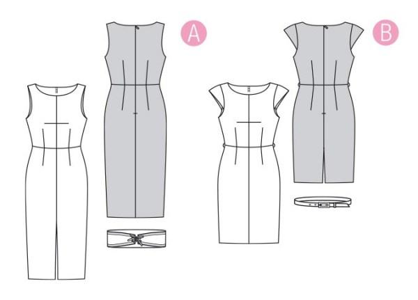 Выкройка Burda  6320 — Платье-футляр
