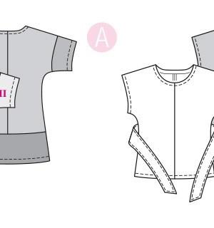 Выкройка Burda  6330 — Блузка с цельнокроенным рукавом, туника