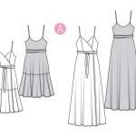 Выкройка Burda №6344 — Платье в цветочек, вечернее платье