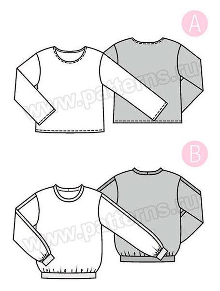 Выкройка Burda №6355 — Блуза