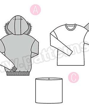 Выкройка Burda №6356 — Пуловер