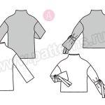 Выкройка Burda  6366 — Пуловер