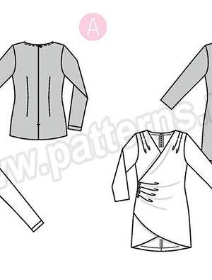 Выкройка Burda №6369 — Блузка с драпировкой