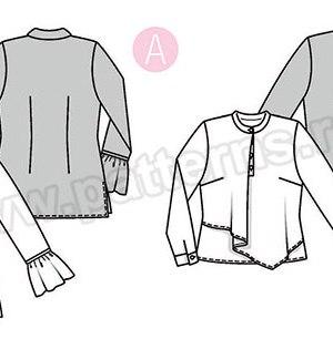 Выкройка Burda №6374 — Блузка