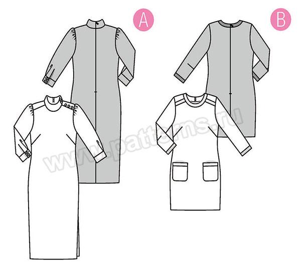 Выкройка Burda  6381 — Платье