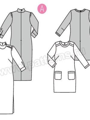 Выкройка Burda №6381 — Платье