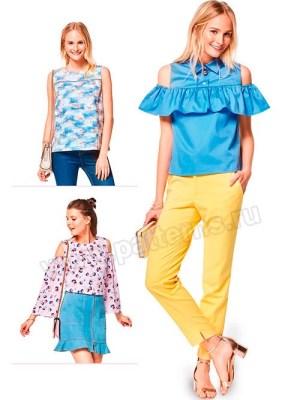 Выкройка Burda №6405 — Топ, блуза