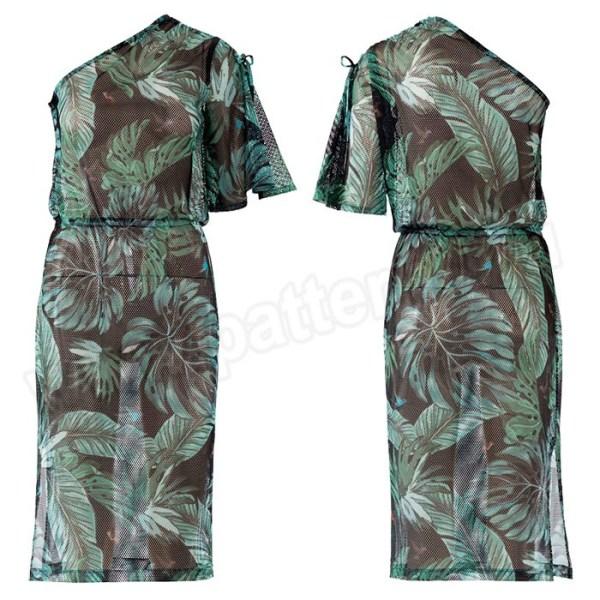 Выкройка Burda №6412 — Платье на одно плечо