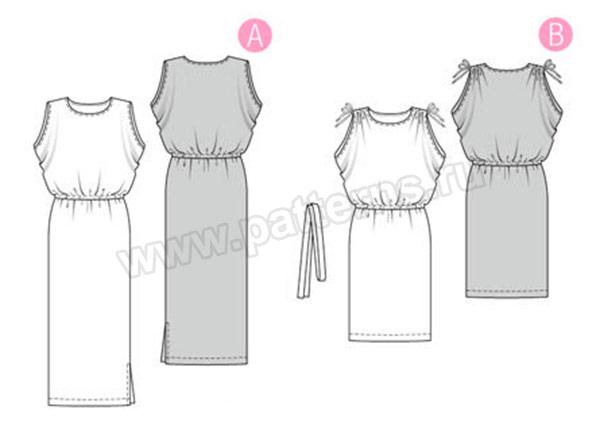Выкройка Burda №6414 — Платье