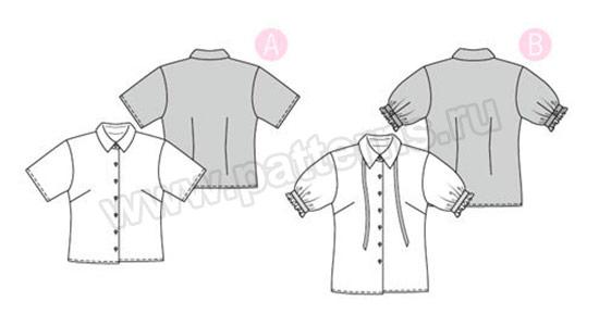 Выкройка Burda №6426 — Блузка-рубашка