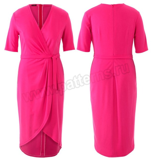 Выкройка Burda №6447 — Платье с запахом