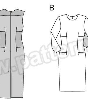 Выкройка Burda №6450 — Платье