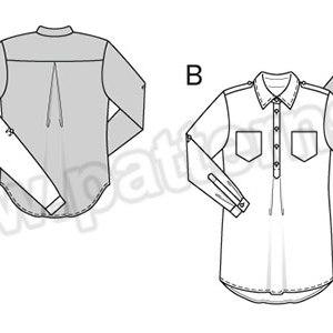 Выкройка Burda №6457 — Блузка, Рубашка