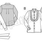 Выкройка Burda №6460 — Блузка