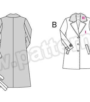 Выкройка Burda №6462 — Пальто