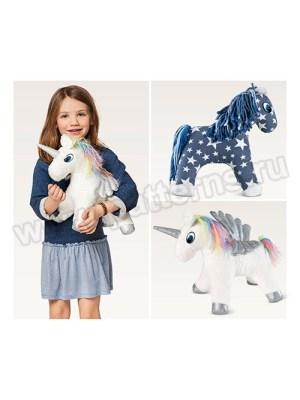 Выкройка Burda №6495 — Мягкие игрушки: Лошадь и Единорог