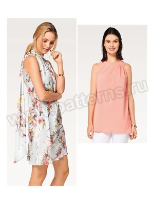 Выкройка Burda №6503 — Платье, Топ