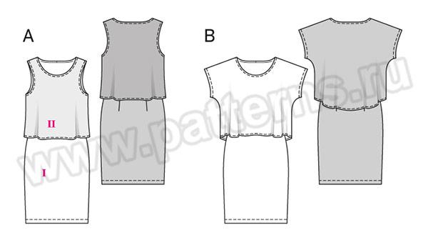 Выкройка Burda №6508 — Платье