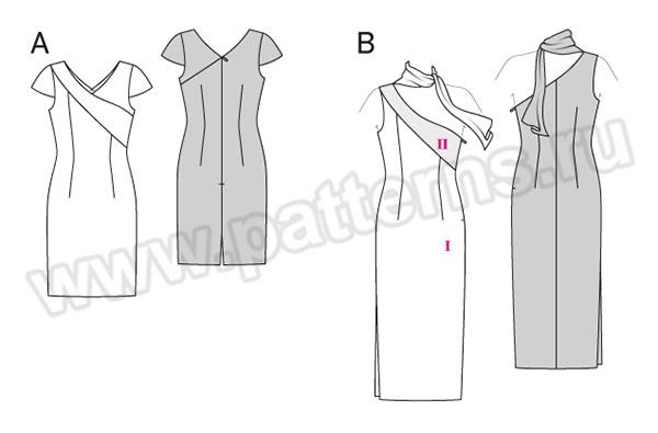 Выкройка Burda №6523 — Платье
