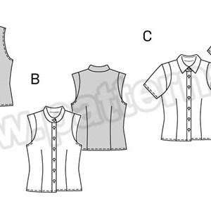 Выкройка Burda №6527 — Блуза