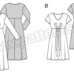 Выкройка Burda №6562 — Платье