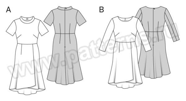 Выкройка Burda №6565 — Платье