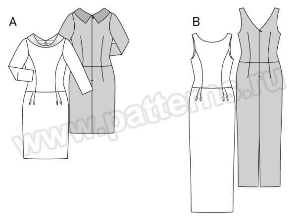 Выкройка Burda №6585 — Вечернее платье