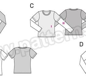 Выкройка Burda №6602 — Пуловер