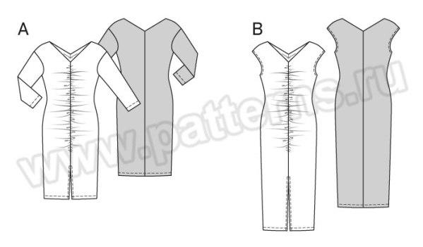 Выкройка Burda №6626 — Платье с драпировкой