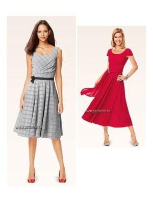 Выкройка Burda №6638 — Платье с драпировкой