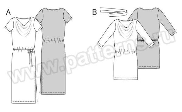 Выкройка Burda №6639 — Платье