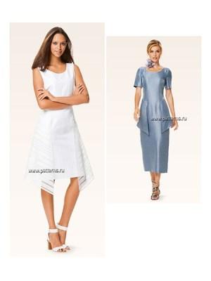 Выкройка Burda №6643 — Платье с баской