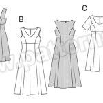 Выкройка Burda №6670 — Платье с завышенной талией