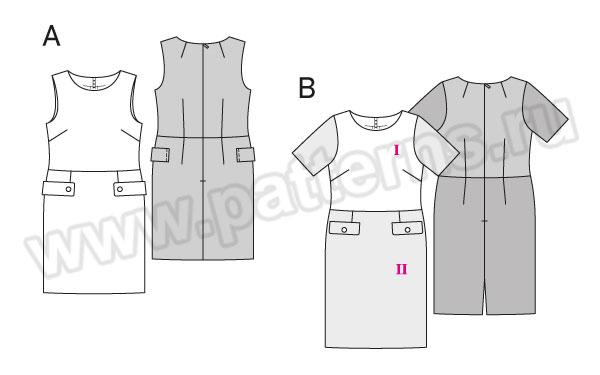 Выкройка Burda №6671 — Платье прямое