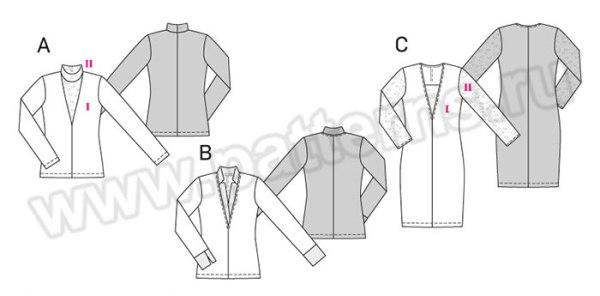 Выкройка Burda №6694 — Платье, Пуловер