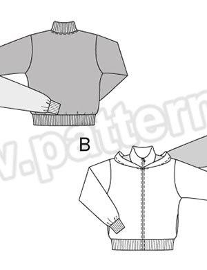 Выкройка Burda  6799 — Спортивная куртка