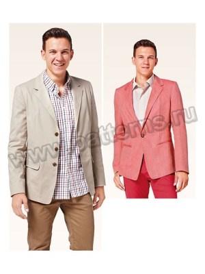 Выкройка Burda №6813 — Мужской пиджак