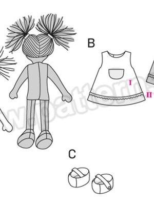 Выкройка Burda №6824 — Мягкие игрушки: Кукла