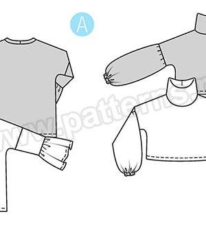 Выкройка Burda №9335 — Пуловер