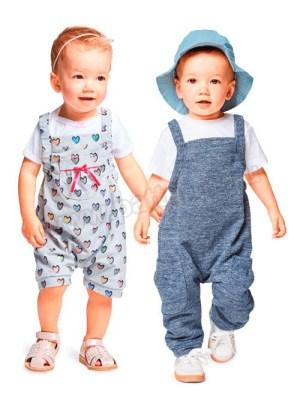Выкройка Burda №9337 — Детский комбинезон